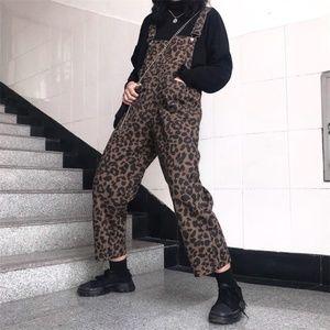 leopard print overalls